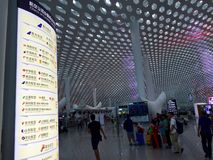 Shenzhen Baoan International Airport folk Royaltyfria Foton