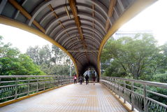 Shenzhen baoan road pedestrian overpass, in china Royalty Free Stock Photo