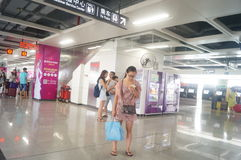 Shenzhen Baoan shajing gångtunnelstation Royaltyfria Bilder