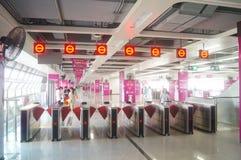 Shenzhen Baoan shajing gångtunnelstation Arkivbilder