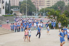 Shenzhen Baoan Shajing middle school Stock Photo