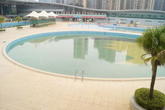 Shenzhen Baoan Sports Center swimming pool Royalty Free Stock Photography