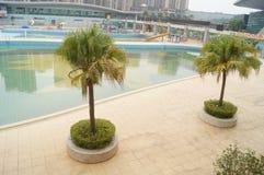 Shenzhen Baoan Sports Center swimming pool Royalty Free Stock Photo