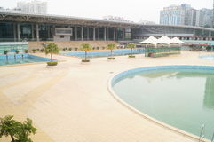 Shenzhen Baoan Sports Center swimming pool Stock Images
