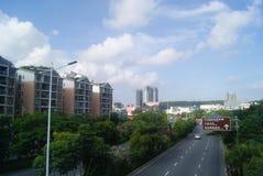 Shenzhen Baoan Xixiang Avenue traffic landscape Stock Image