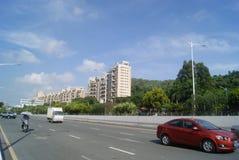 Shenzhen Baoan Xixiang Avenue traffic landscape Stock Photo