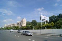 Shenzhen Baoan Xixiang Avenue traffic landscape Royalty Free Stock Images