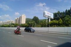 Shenzhen Baoan Xixiang Avenue traffic landscape Royalty Free Stock Image