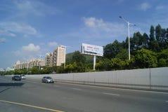 Shenzhen Baoan Xixiang Avenue traffic landscape Royalty Free Stock Photo