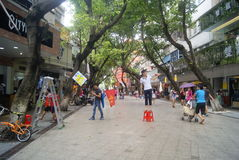 Shenzhen Baoan Xixiang commercial pedestrian street, in China Royalty Free Stock Images