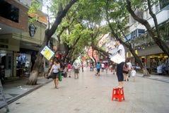 Shenzhen Baoan Xixiang commercial pedestrian street, in China Royalty Free Stock Photos