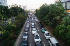 Shenzhen Baoan Xixiang road traffic congestion Stock Image
