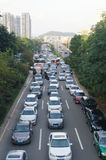 Shenzhen Baoan Xixiang road traffic congestion Royalty Free Stock Images