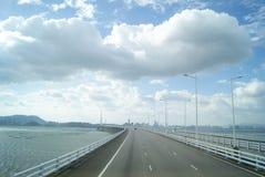 The Shenzhen Bay Bridge, in China Royalty Free Stock Photography