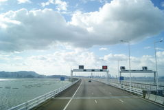 The Shenzhen Bay Bridge, in China Royalty Free Stock Images