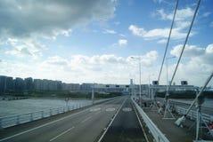 The Shenzhen Bay Bridge, in China Royalty Free Stock Image