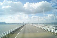 The Shenzhen Bay Bridge, in China Royalty Free Stock Photo