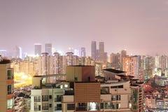 Shenzhen bij nacht 3 Stock Foto's