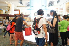 Shenzhen Bookstore interior landscape Royalty Free Stock Images