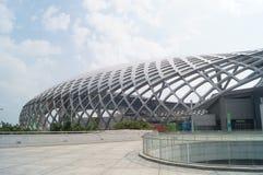 Shenzhen-Bucht-Sportzentrum Stockfotos