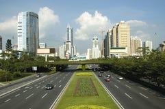 Shenzhen - centro de cidade Fotos de Stock Royalty Free
