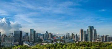 Shenzhen centrum administracyjno-kulturalne CBD Obrazy Royalty Free