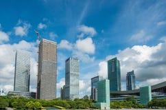 Shenzhen centrum, futian CBD Obrazy Royalty Free