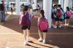 Shenzhen children reading in Hongkong Stock Photos