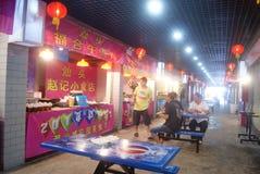 Shenzhen, chinês:: Rua do alimento Fotografia de Stock