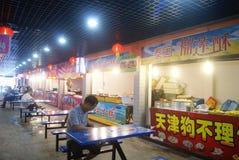 Shenzhen, chinês: Rua do alimento Fotos de Stock Royalty Free