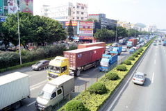 Shenzhen china: 107 national highway Stock Images