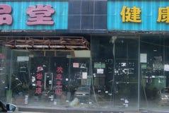 Shenzhen, China: abandoned shops Stock Images