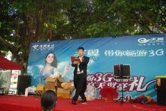 Shenzhen, China: actividades promocionales de la demostración mágica Fotografía de archivo libre de regalías
