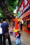 Shenzhen, China: actividades promocionales de la joyería del jade Fotografía de archivo