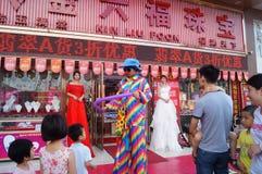 Shenzhen, China: actividades promocionales de la joyería del jade Imagenes de archivo