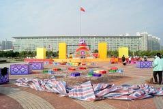 Shenzhen china: adornment the spring festival Stock Photo