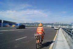Shenzhen, China: airport highway traffic Royalty Free Stock Photos
