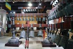 Shenzhen, China: alte Musikinstrumente der Glocken der Zeit der streitenden Reiche Stockfotografie