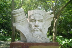 Shenzhen, China: ancient patriotic general statue Stock Photo