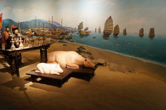 Shenzhen, China: ancient sacrifice scene Royalty Free Stock Photos