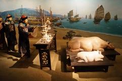 Shenzhen, China: ancient sacrifice scene Royalty Free Stock Photography