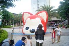 Shenzhen, China: animal sculpture landscape Stock Photo
