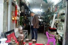 Shenzhen, China: antique shop Stock Image