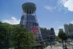 Shenzhen, China: the appearance of V City Shopping Plaza Building Stock Photo