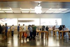 Shenzhen, China: Apple mobile phone shop Stock Photo