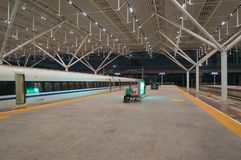 Train in Shenzhen Railway Station stock images