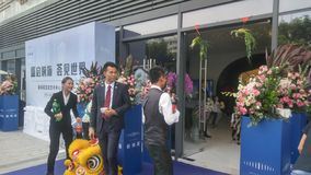 Shenzhen, China: atividades de venda novas do começo das construções residenciais na cena imagens de stock royalty free