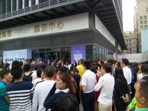 Shenzhen, China: atividades de venda novas do começo das construções residenciais na cena fotos de stock royalty free