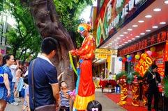 Shenzhen, China: atividades relativas à promoção da ourivesaria do jade Fotos de Stock Royalty Free