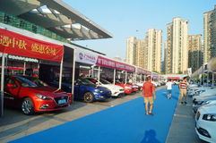 Shenzhen, China: auto exhibition sales Royalty Free Stock Image